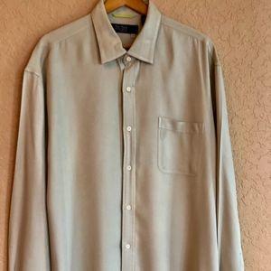 Nat Nast Long Sleeve 100% Silk Shirt